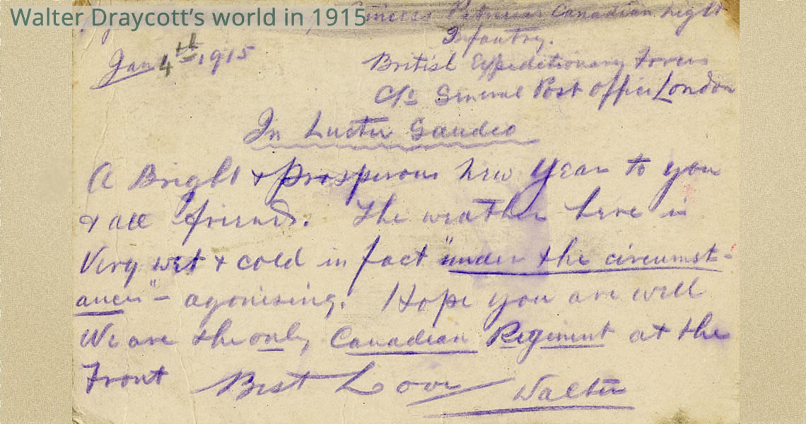 Draycott Written Postcard