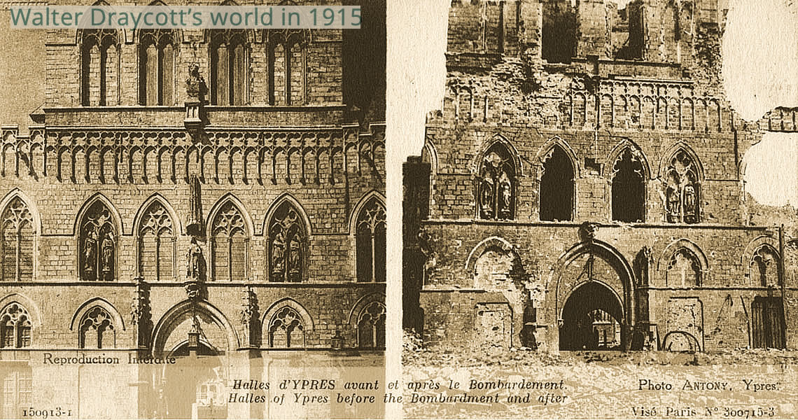 Ypres Before and After Bombardment