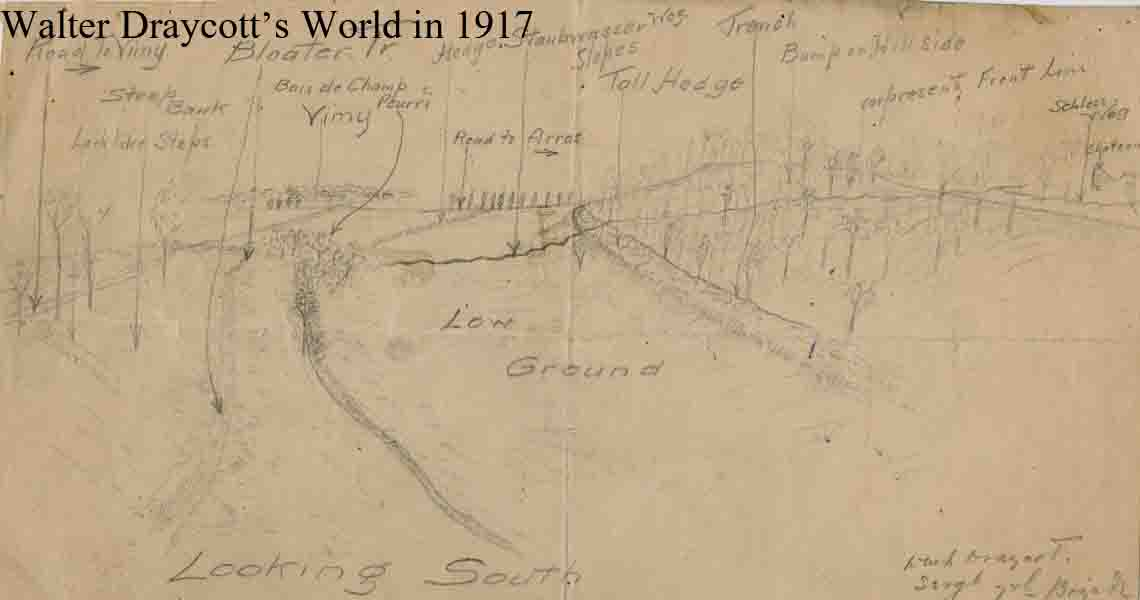 Hand drawn sketch map 1917