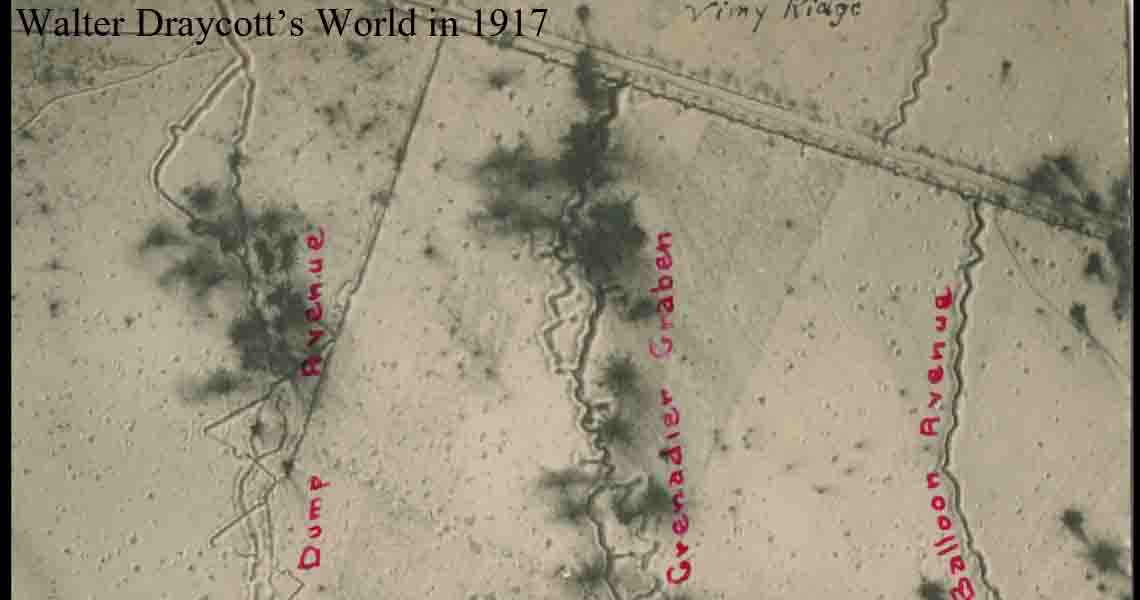 Aerial view of Vimy Ridge 1917