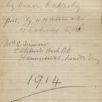 Field Book Cover 1914